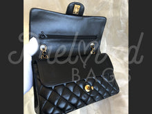 "SOLD - Chanel 10"" 2.55 Dark Navy Lamb Leather Double flap Shoulder Bag With 24 Carat Gold Plated Hardware - PrelovedBags Chanel"