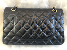 "Chanel 10"" 2.55 Dark Navy Lamb Leather Double flap Shoulder Bag With 24 Carat Gold Plated Hardware - PrelovedBags Chanel"