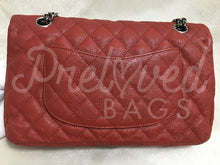 "SOLD Chanel 10"" 2.55 Wine Red Caviar Reissue Double flap Shoulder Bag SHW - PrelovedBags Chanel"
