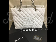 "SOLD - Chanel 12.99"" White Caviar GST Bag With Silver Hardware - PrelovedBags Chanel"