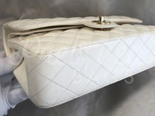 "Chanel 10"" 2.55 White Lambskin Leather Double flap Shoulder Bag With 24 Carat Gold Plated Hardware - PrelovedBags Chanel"
