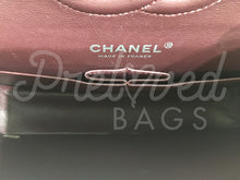 "SOLD - Chanel 10"" 2.55 Black Lambskin Leather Double Flap Double Chain With Silver Hardware - PrelovedBags Chanel"