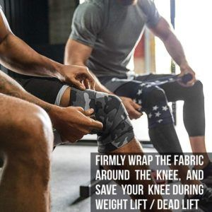 Protect knees with knee wrap