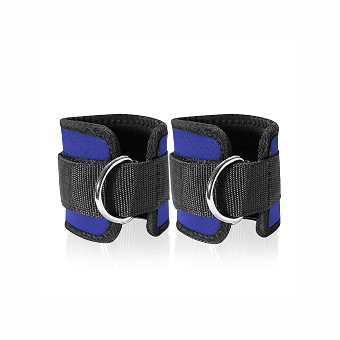 Adjustable Ankle Straps- Padded with D Ring for Cable Machine