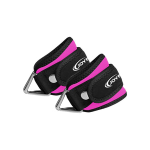 Adjustable Ankle Straps Padded with Ring for Gym,Cable Machine