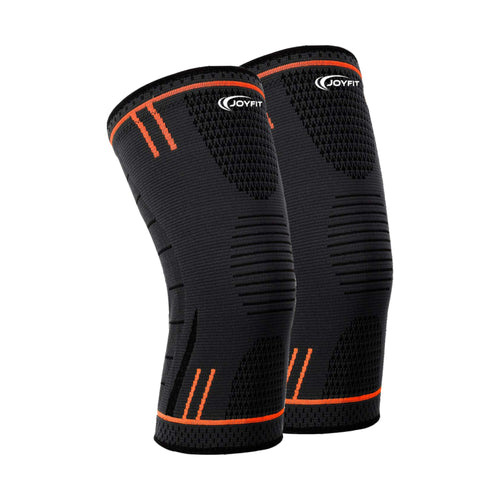 Joyfit 2 Pc. Knee Sleeves for Running, Badminton, Sports, and Gym for Versatile Knee Support
