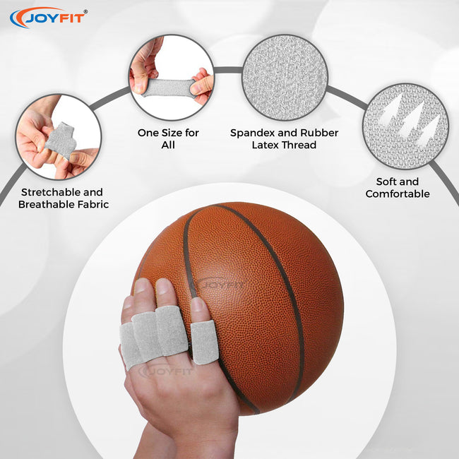 Joyfit Finger Support with Effective Cushioning for Sports and Fitness Activities (Pack of 10)