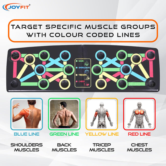 Push Up Board 14-in-1 Foldable Multi Functional Colour coded rack