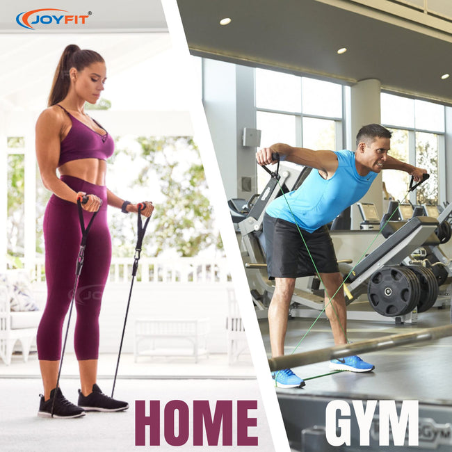 resistance band home gym workout
