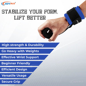 Joyfit Weightlifting Straps (Pair) for Fitness, Powerlifting & Strength Training Workouts