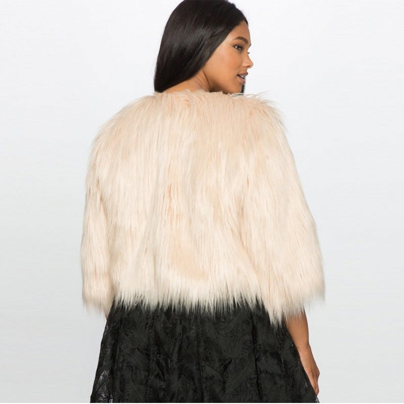 Peace Monet- Faux Fur Coat -