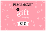 Peace Monet- Gift Card -