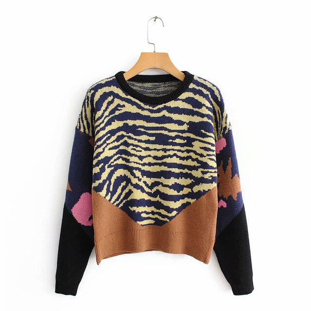 Peace Monet- Navi Stripes long sleeve Sweater -