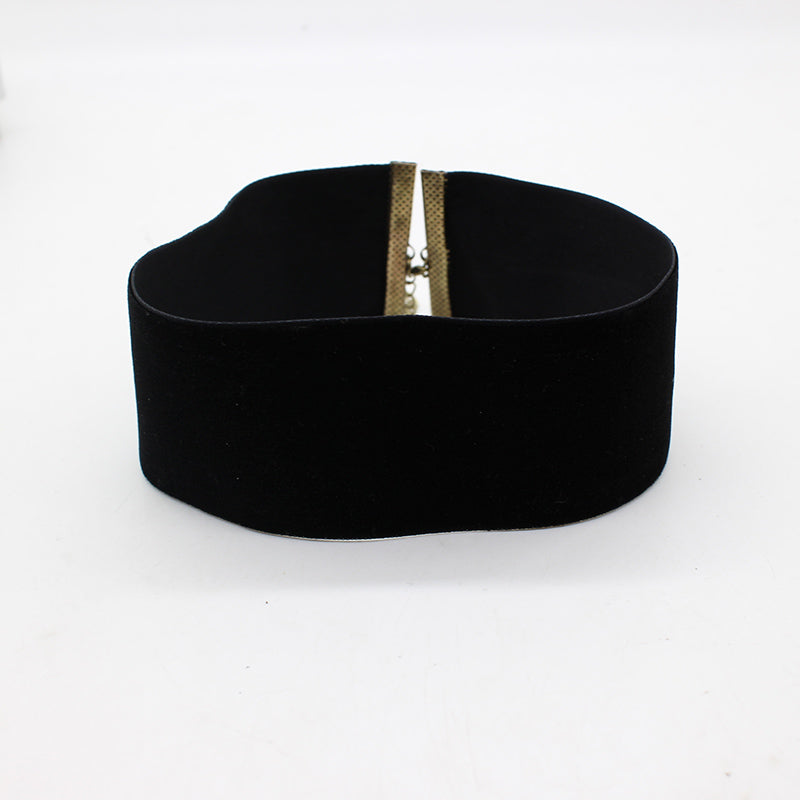 Peace Monet- Black Velvet Choker Necklace -