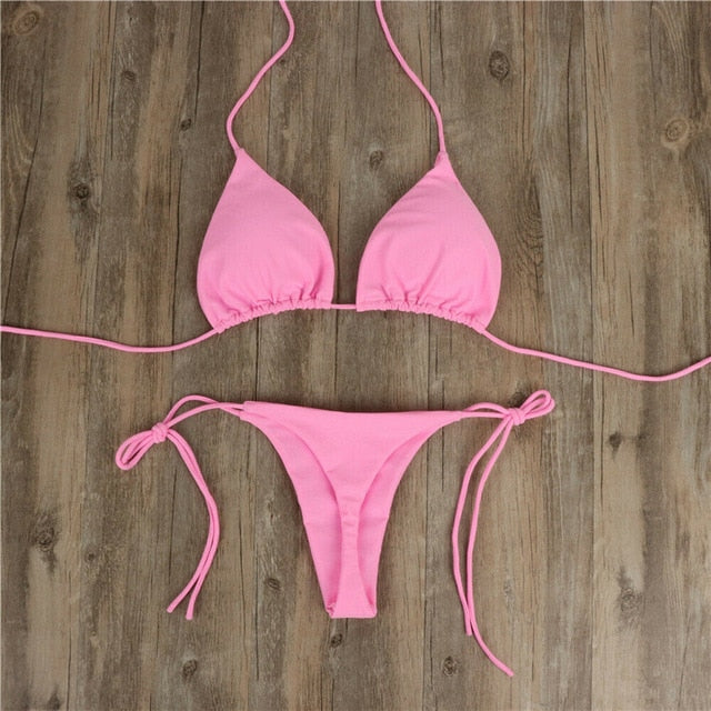 Peace Monet- Bikini Brazilian Swimsuit Set -