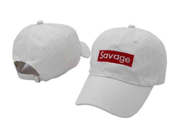Savage - WHITE Dad Hat - Peace Monet Co.