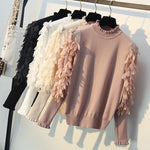 Petal Long Sleeve Sweaters