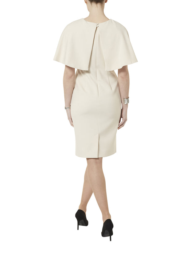 Cape Cream Dress