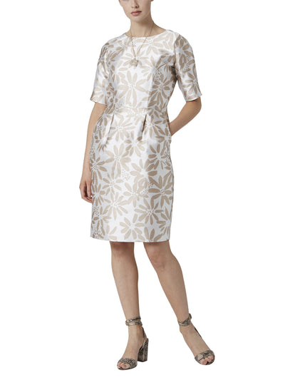 Marcela Floral Jacquard Dress