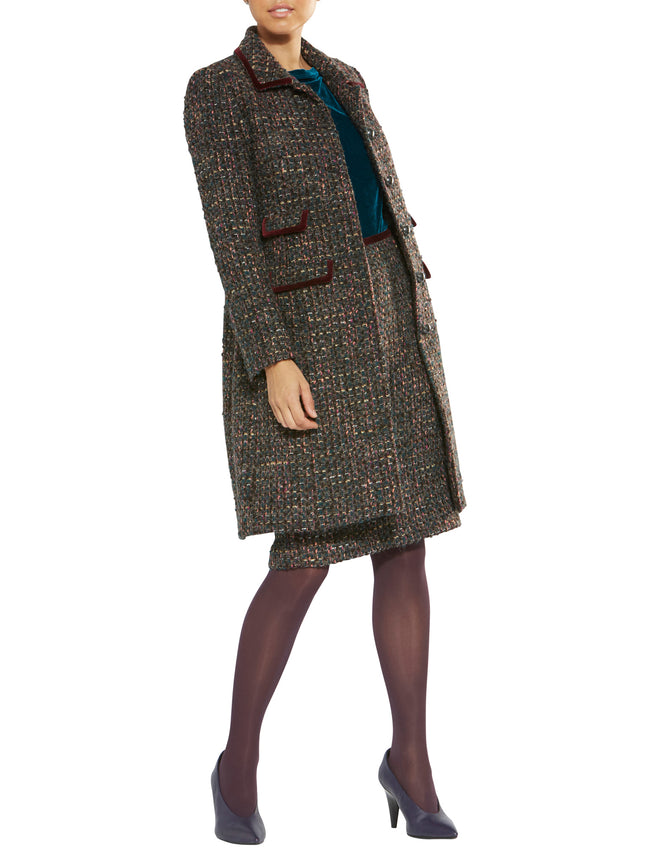 Yvonne Multicolour Boucle Coat