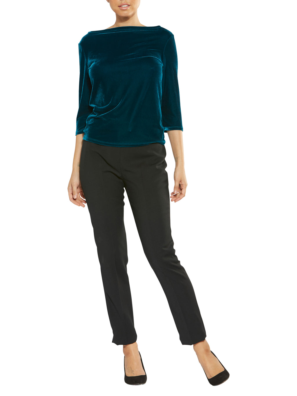 Teal Boat Neck Top