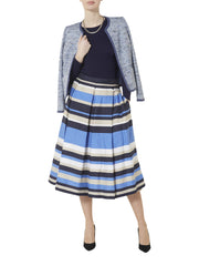 Liz Stripe Skirt