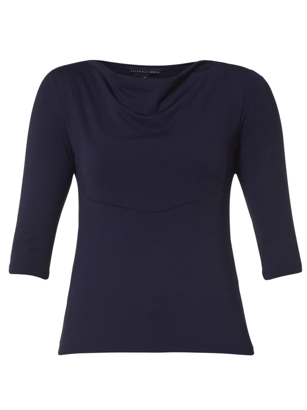 Cowel Navy Top