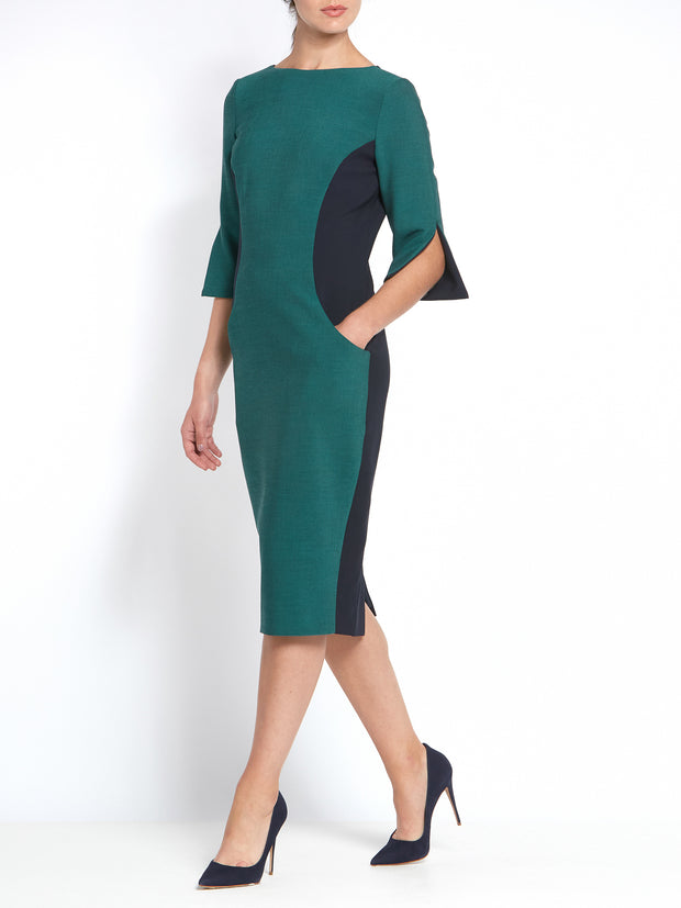 Vivienne Navy Teal Dress
