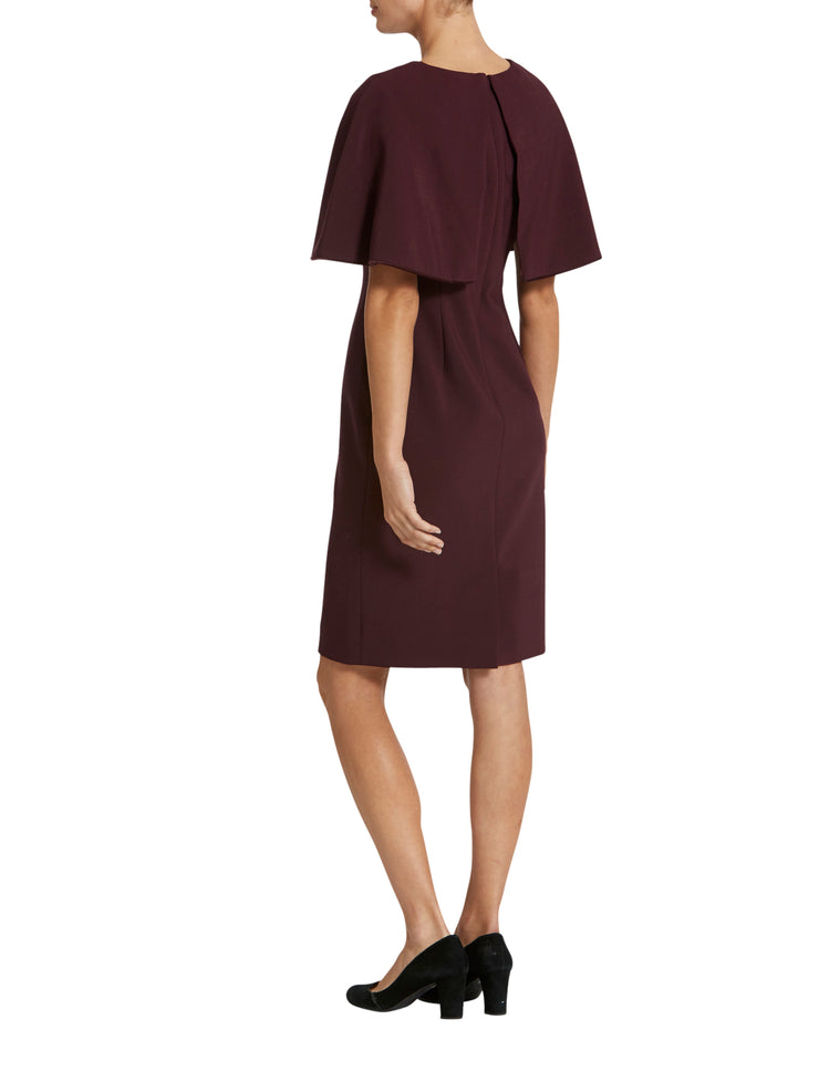 Cape Burgundy Dress