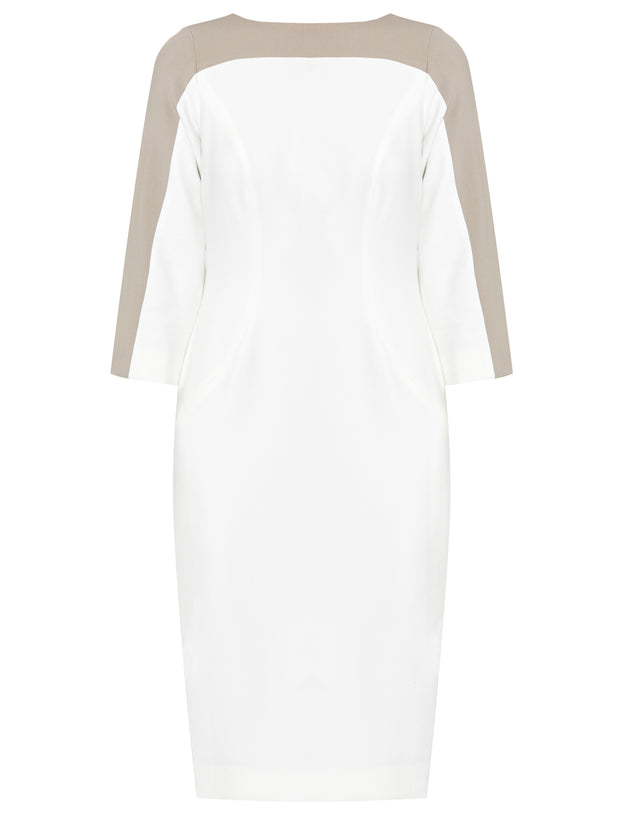 Charlotte White & Mink Dress