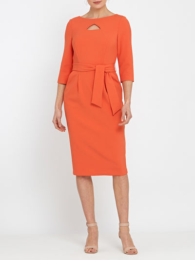 Beatrice Orange Dress