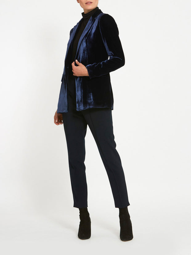 Willow Navy Velvet Blazer