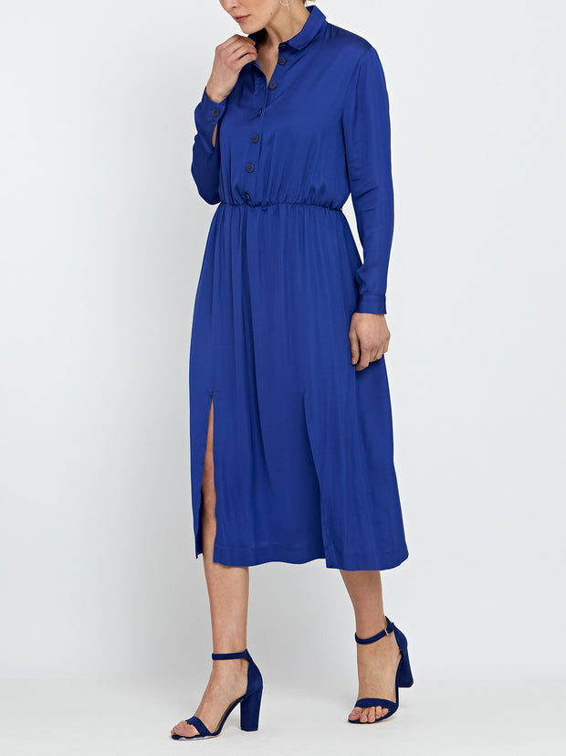 Rosie Blue Satin Dress