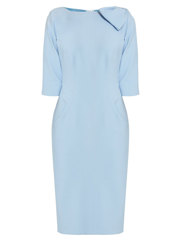 Natalie Light Blue Bow Dress