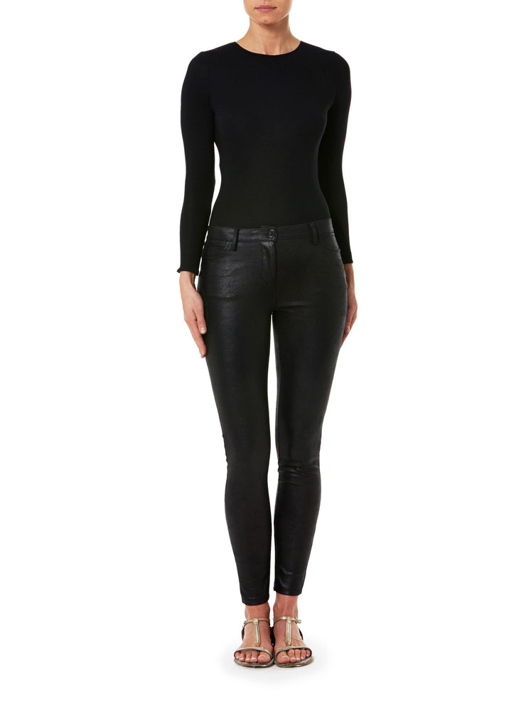 Faux Leather Black Pant