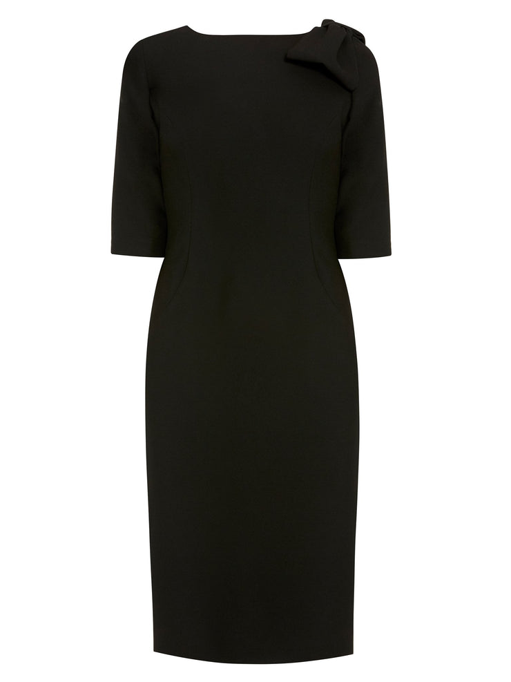 Natalie Black Bow Dress