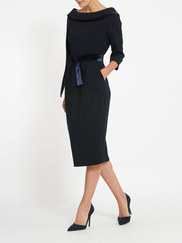 Mirren Navy Dress