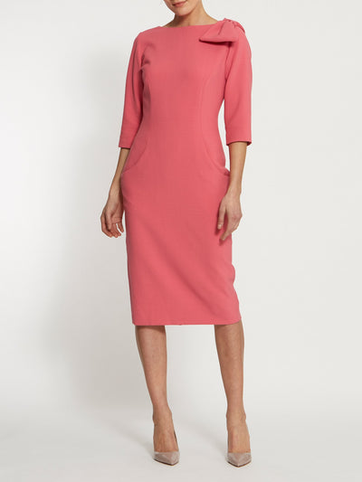 Natalie Pink Bow Dress