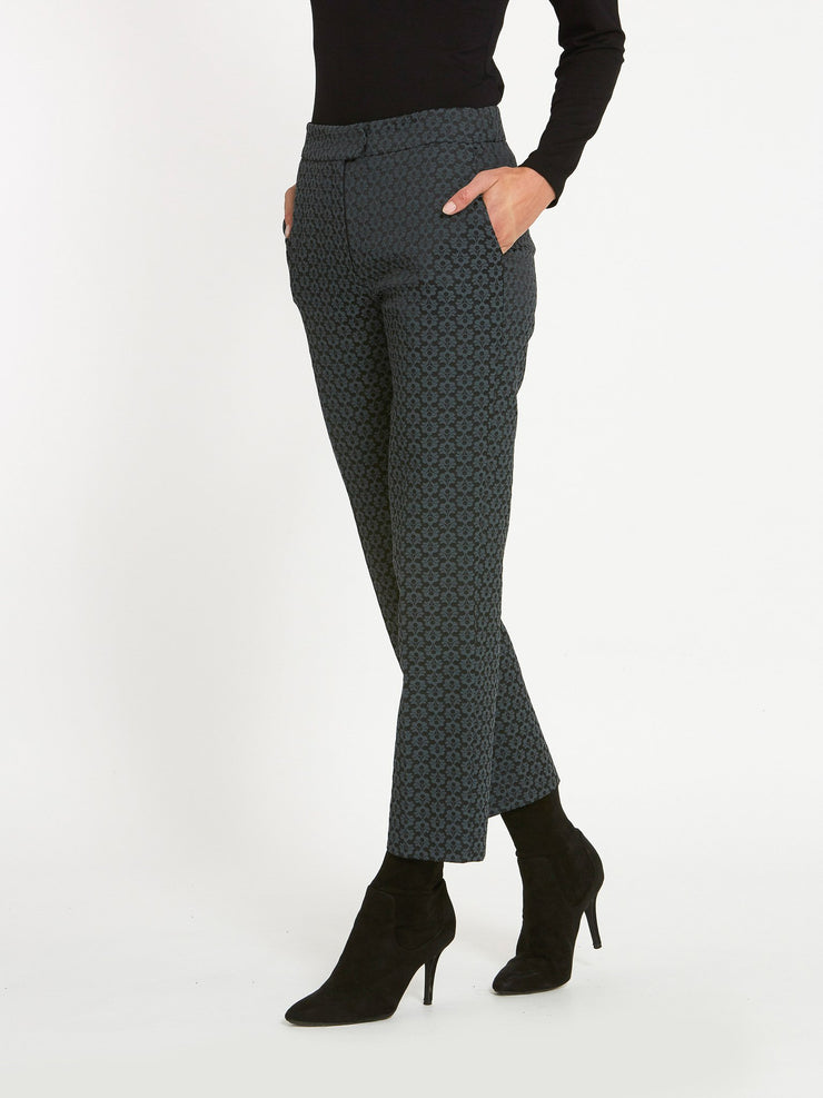 Jill Grey Jacquard Pants