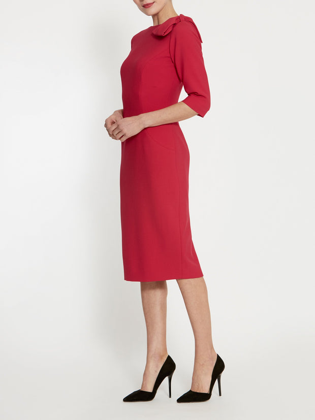 Natalie Red Bow Dress