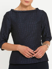 Claire Navy Top