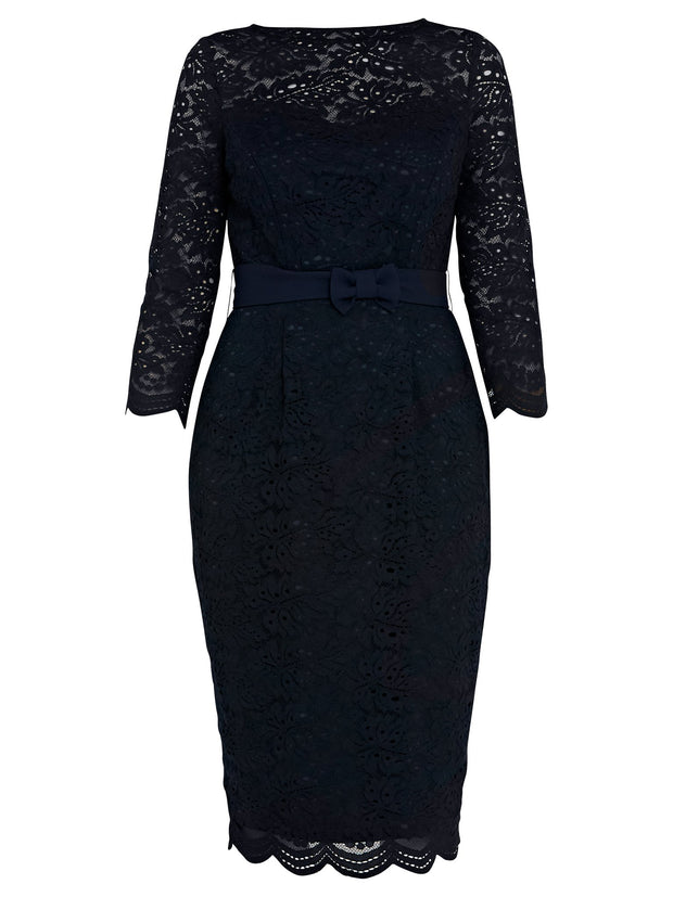 Michelle Navy Dress