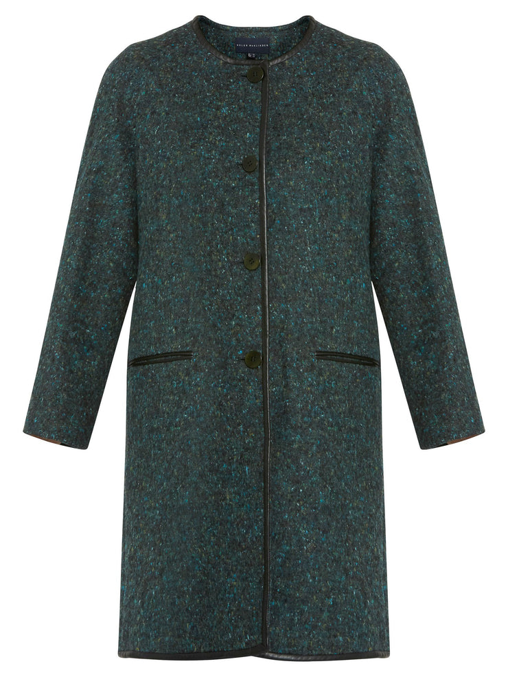 Fern Colarless Coat