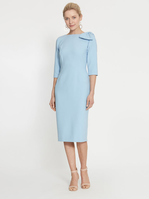 Natalie Pale Blue Bow Dress