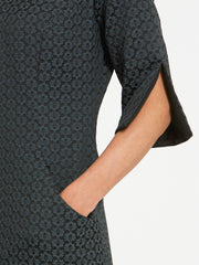 Vivienne Grey Jacquard Dress