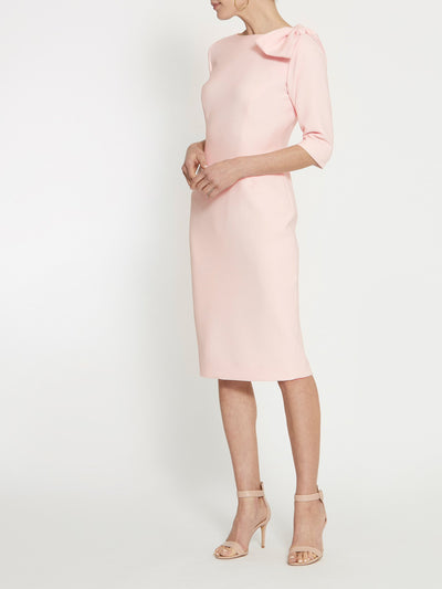 Natalie Pale Pink Bow Dress