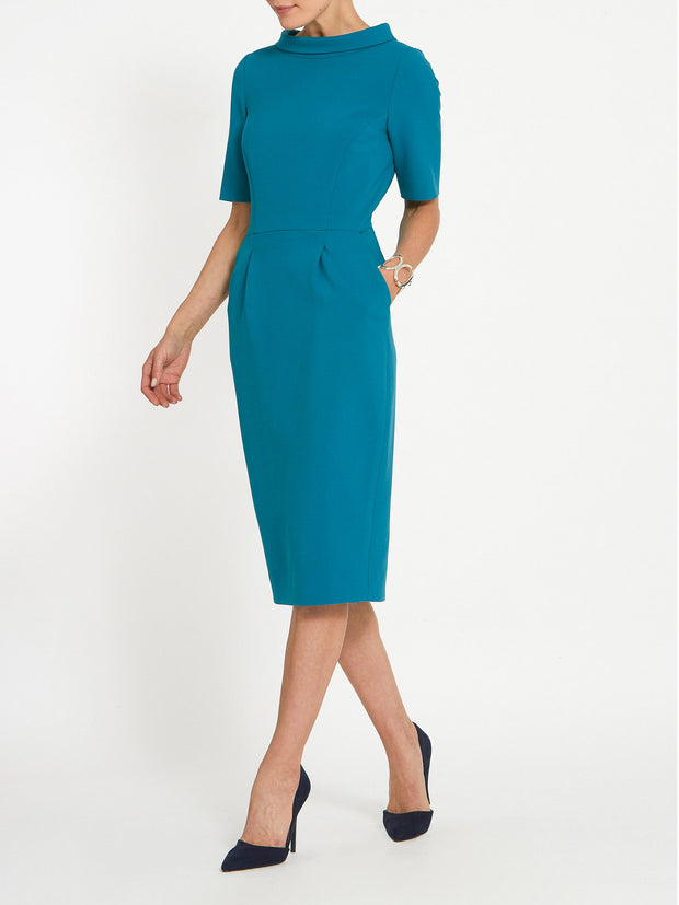 Catherine Teal Dress