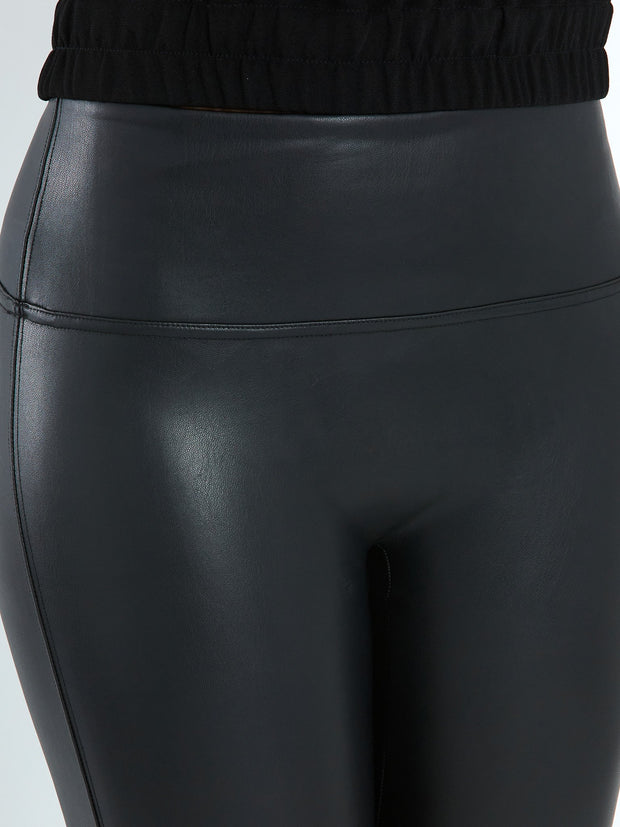 Elle Black Faux Leather Legging