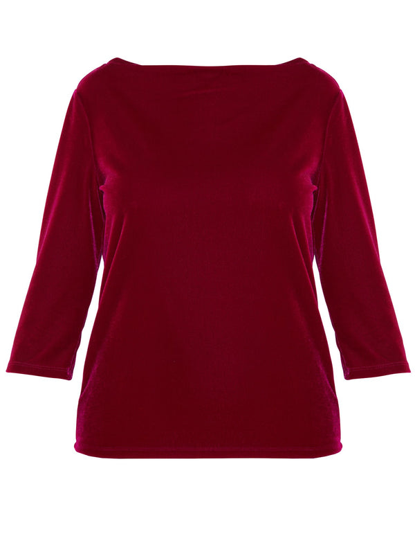 Fuchsia Boat Neck Top
