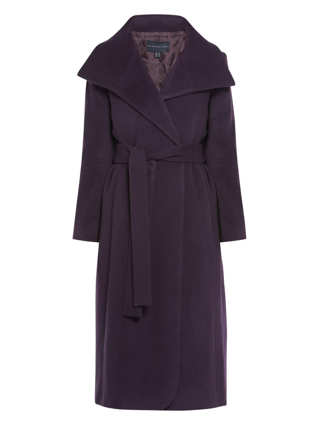 Hazel Mulberry Coat